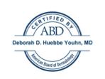 American Board of Dermatology Certification for Dr. Deborah Huebbe