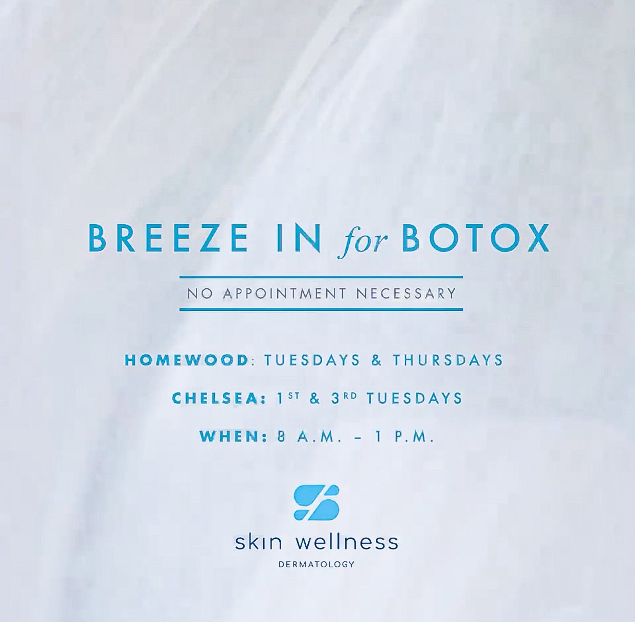 Breeze in for Botox